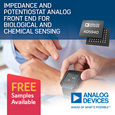 Analog Devices Introduce New Impedance & Potentiostat AFE for Biological & Chemical Sensing, evaluation board and samples available from Anglia