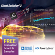 Analog Devices Synchronous Step-Down Silent Switcher 2 Delivers 94% Efficiency & Ultralow EMI/EMC Emissions, free samples and demo board available from Anglia