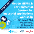 CENSIS: Motion MEMS and environmental sensors for industrial applications