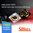 Stanley expand range of High Power Infra-Red surface mount LEDs, samples available from Anglia.