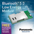 Panasonic launch High Performance and Long Range Bluetooth Low Energy Module, evaluation board and samples available from Anglia