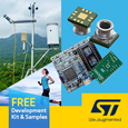 STMicroelectronics launch ultra-compact water-resistant digital output MEMS pressure sensor, development kit and samples available from Anglia.