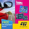 Accelerate your design with AutoDevKit™ fast prototyping development ecosystem from STMicroelectronics, complete set of development boards available from Anglia