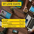 Join STMicroelectronics 3-day live events