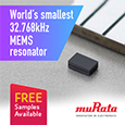Introducing the world's smallest 32.768kHz MEMS resonator from Murata, samples available from Anglia