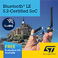 STMicroelectronics Introduces BlueNRG-LP Bluetooth 5.2-Certified SoC, Extending Range, Throughput, Reliability and Security, evaluation boards available from Anglia