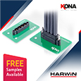 Harwin Kona multi-contact connectors offer high reliability and high power, samples available from Anglia