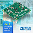 Low quiescent current surge stopper from Analog Devices protect loads from high voltage transients, evaluation board and samples available from Anglia