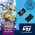 Introducing the TSB71x series of precision op amps with rail-to-rail input and output from STMicroelectronics, samples available from Anglia